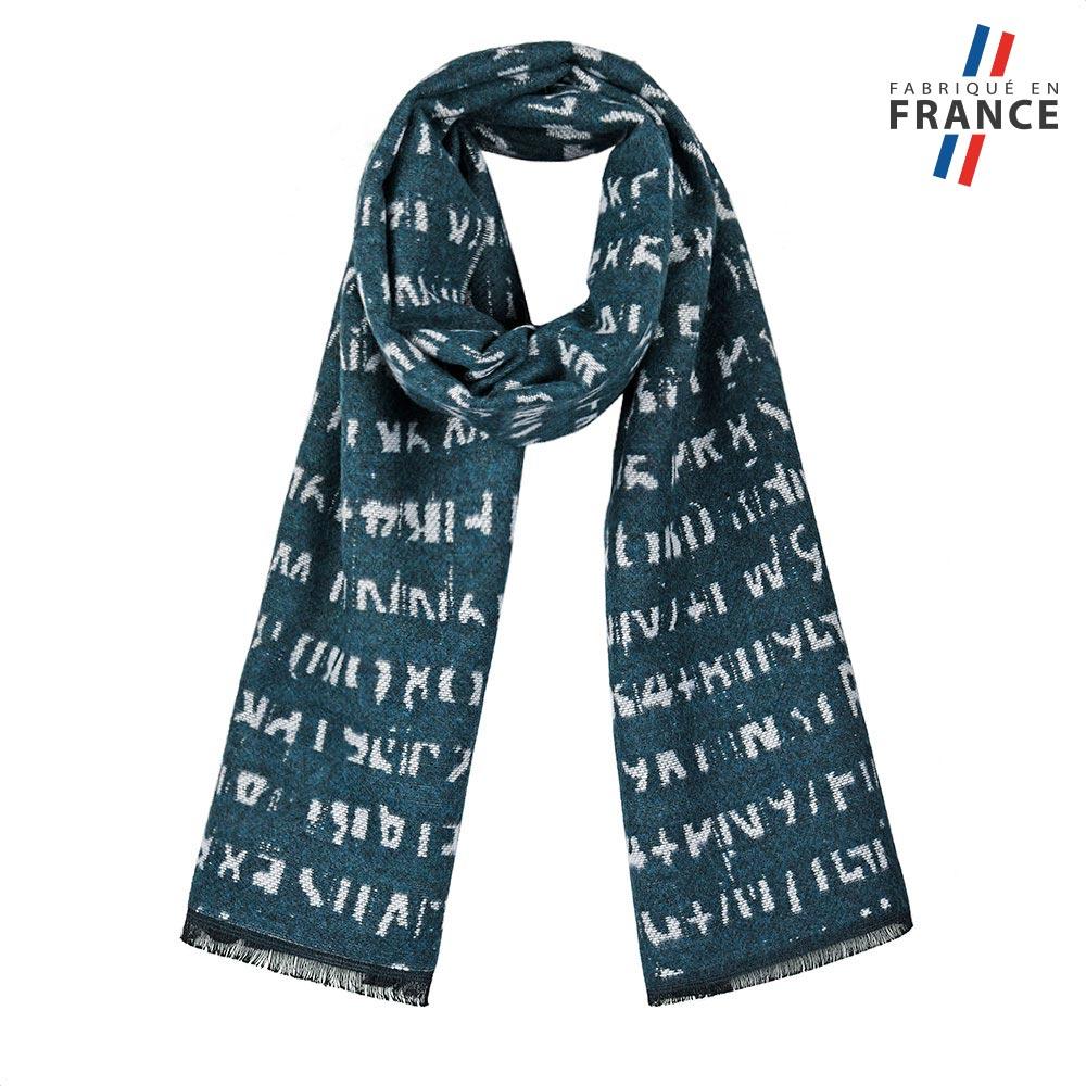 AT-05655-F10-FR-echarpe-hiver-petrole-fabrication-france