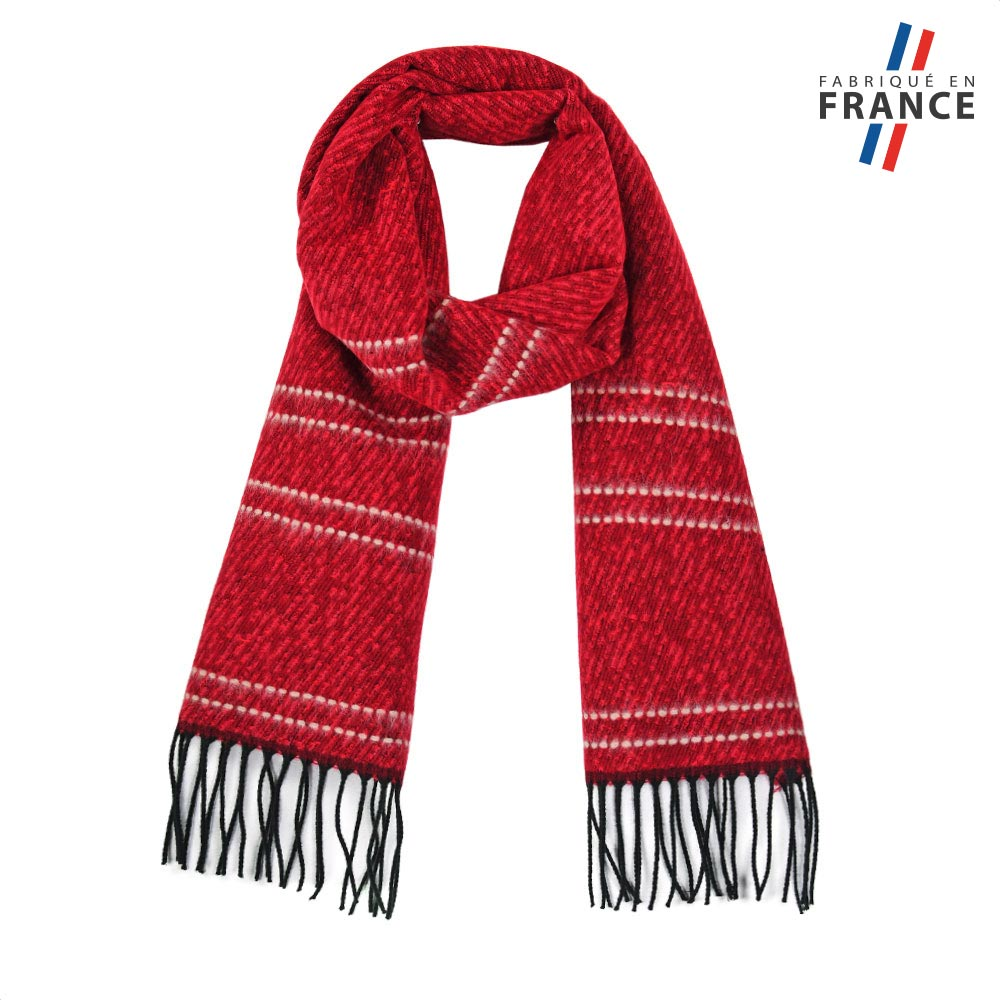AT-05574-F10-FR-echarpe-rayures-rouge-fabrication-france