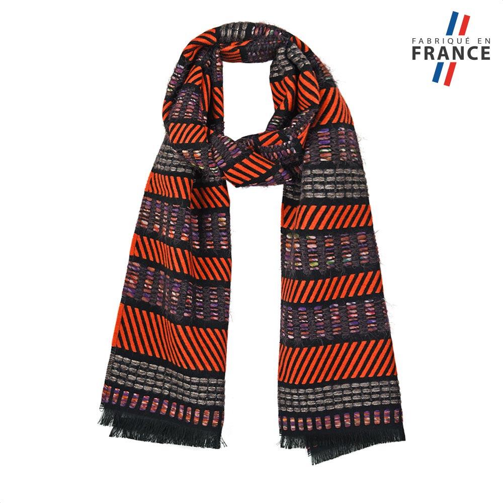 AT-05674-F10-FR-echarpe-orange-surpiqures-fabrication-française