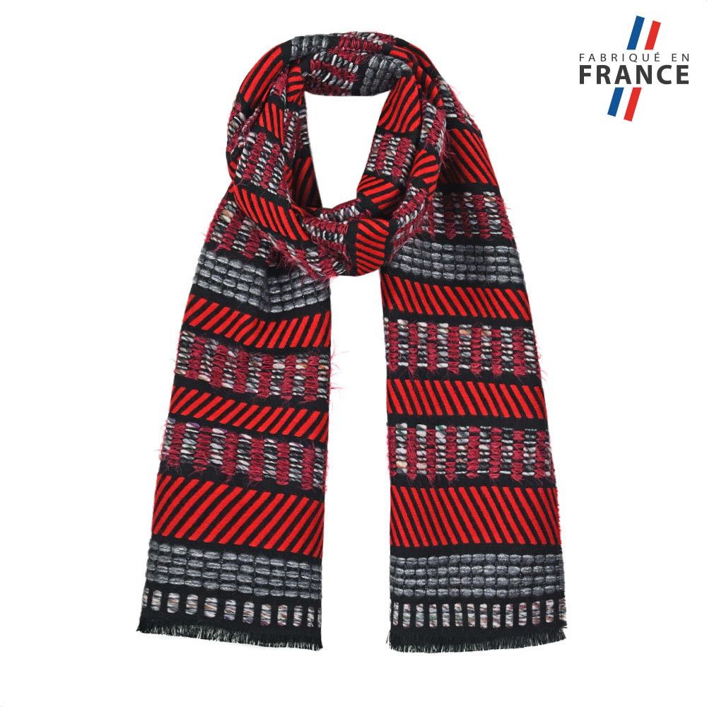 AT-05675-F10-FR-echarpe-rouge-surpiqures-fabrique-en-france