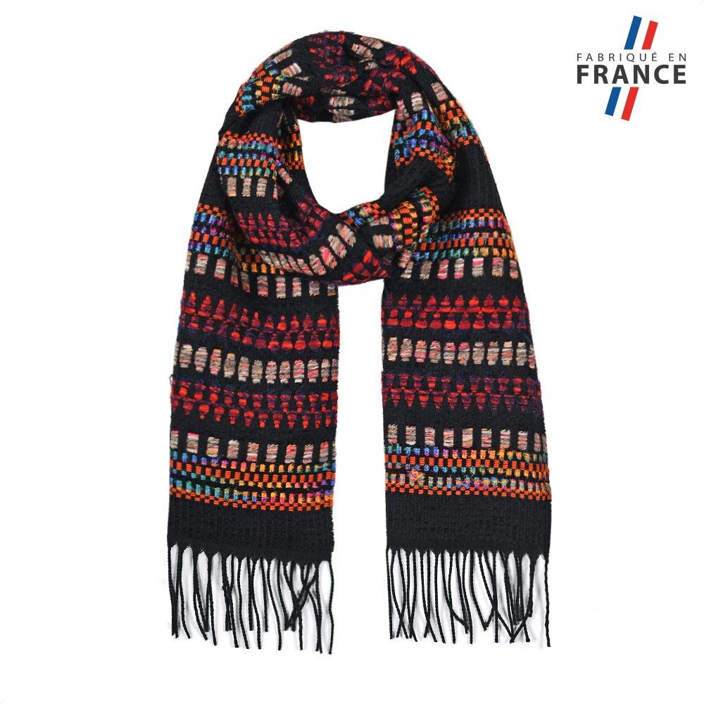 AT-05746-F10-FR-echarpe-fantaisie-marron-fabrication-france