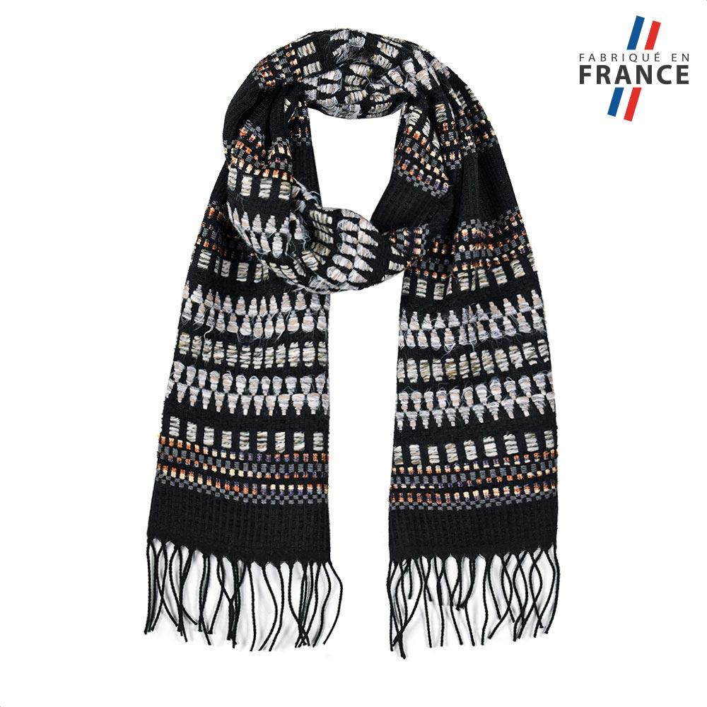 AT-05747-F10-FR-echarpe-franges-gris-noir-made-in-france