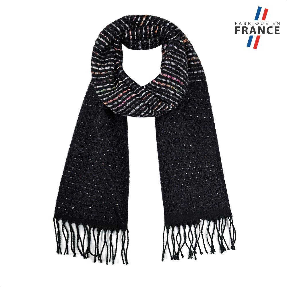 AT-05753-F10-FR-echarpe-noire-rayures-fabrication-française