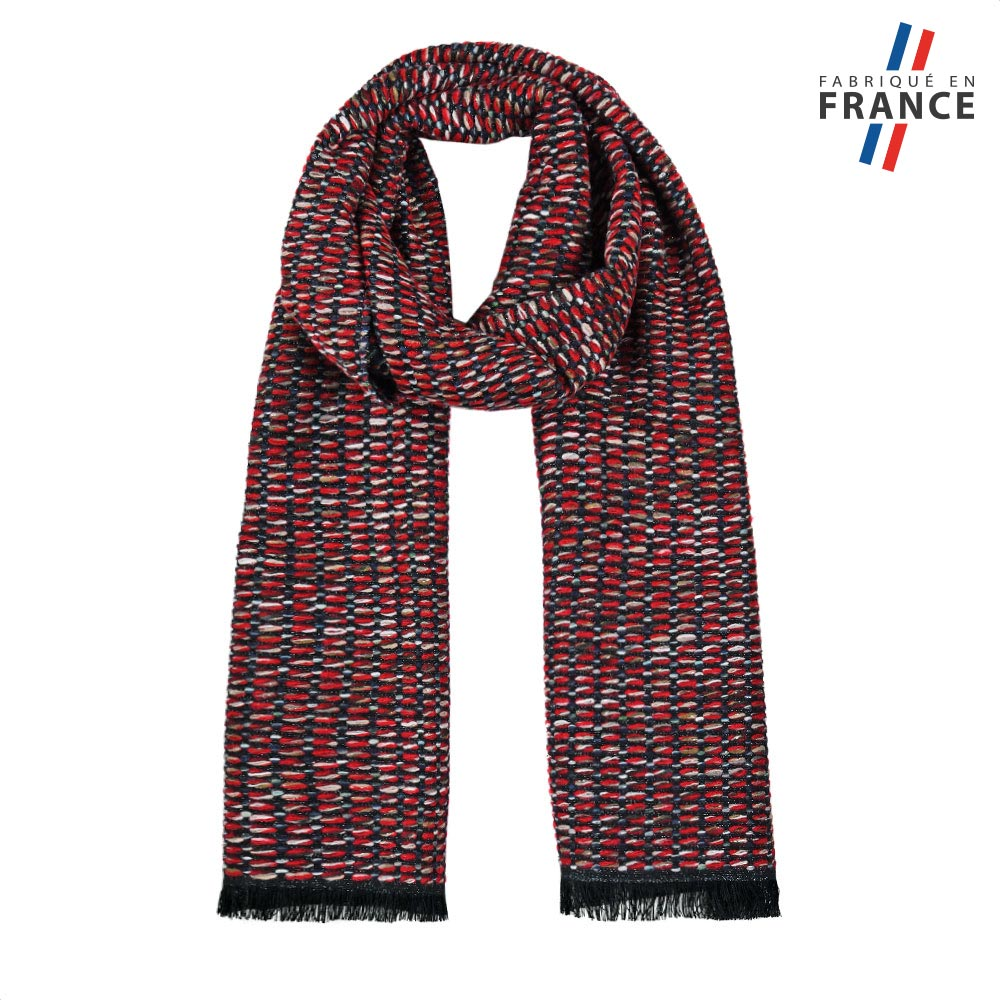 AT-05756-F10-FR-echarpe-hiver-rouge-fabrication-en-france