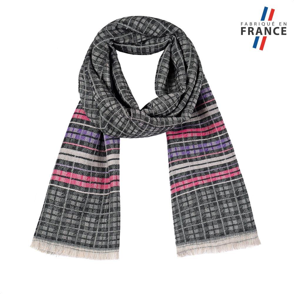 AT-05795-F10-FR-echarpe-femme-petits-carreaux-noire