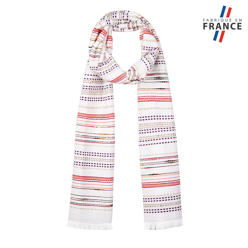 AT-05809-F10-FR-echarpe-fantaisie-blanche-fabrication-francaise