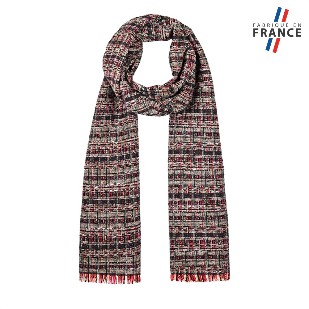 AT-05814-F10-FR-echarpe-femme-relief-grise-made-in-france