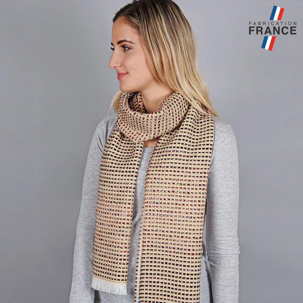 AT-05580-VF10-LB_FR-echarpe-femme-beige-fabrication-francaise