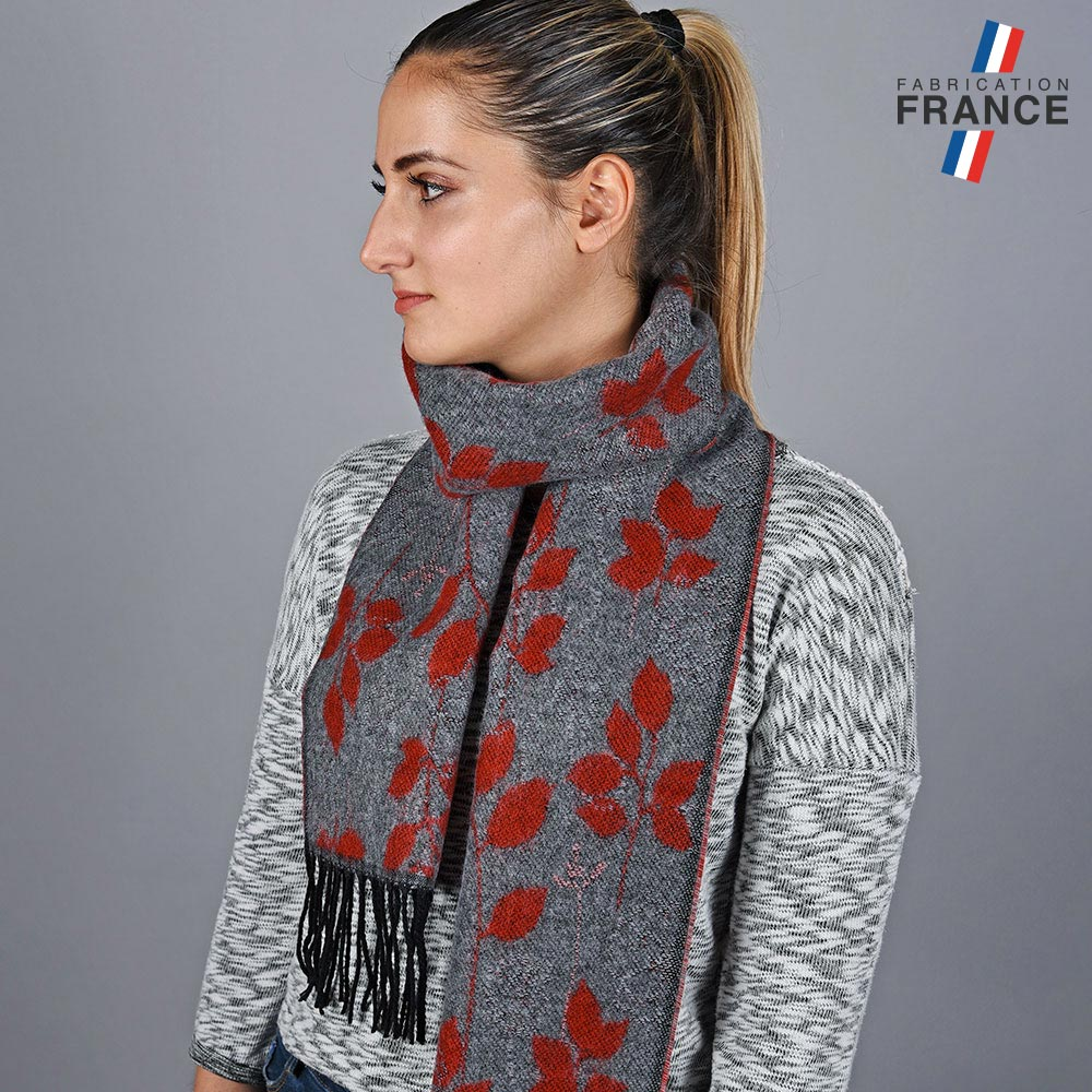 AT-05663-VF10-LB_FR-echarpe-femme-feuilles-rouges-made-in-france