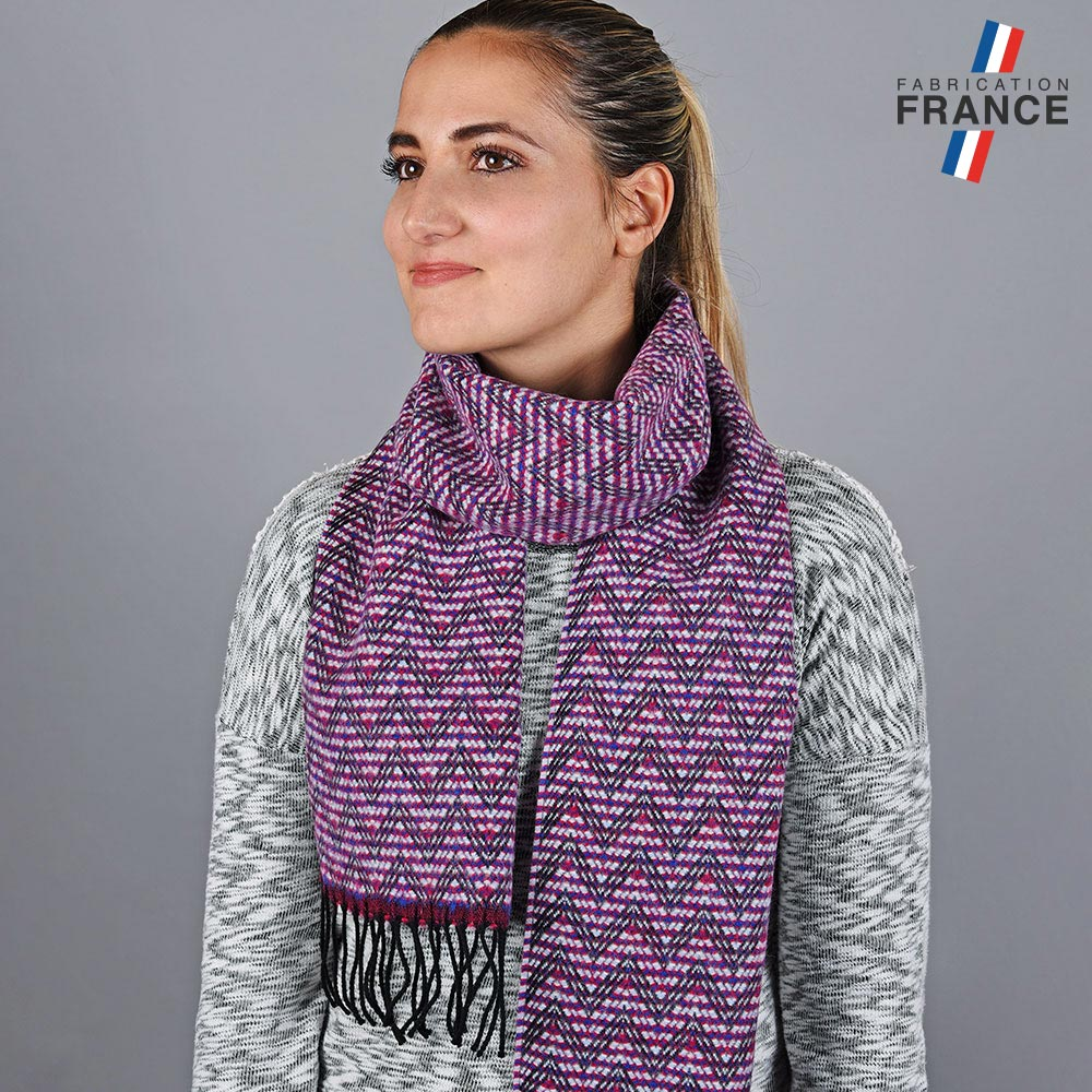 AT-05665-VF10-LB_FR-echarpe-femme-zigzag-fuchsia-fabrication-francaise