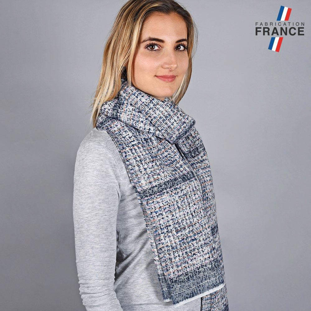 AT-05731-VF10-LB_FR-echarpe-femme-bleue-mouchetis-fabriquee-en-france