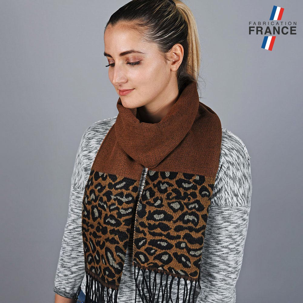 AT-05781-VF10-LB_FR-echarpe-femme-leopard-marron-made-in-france