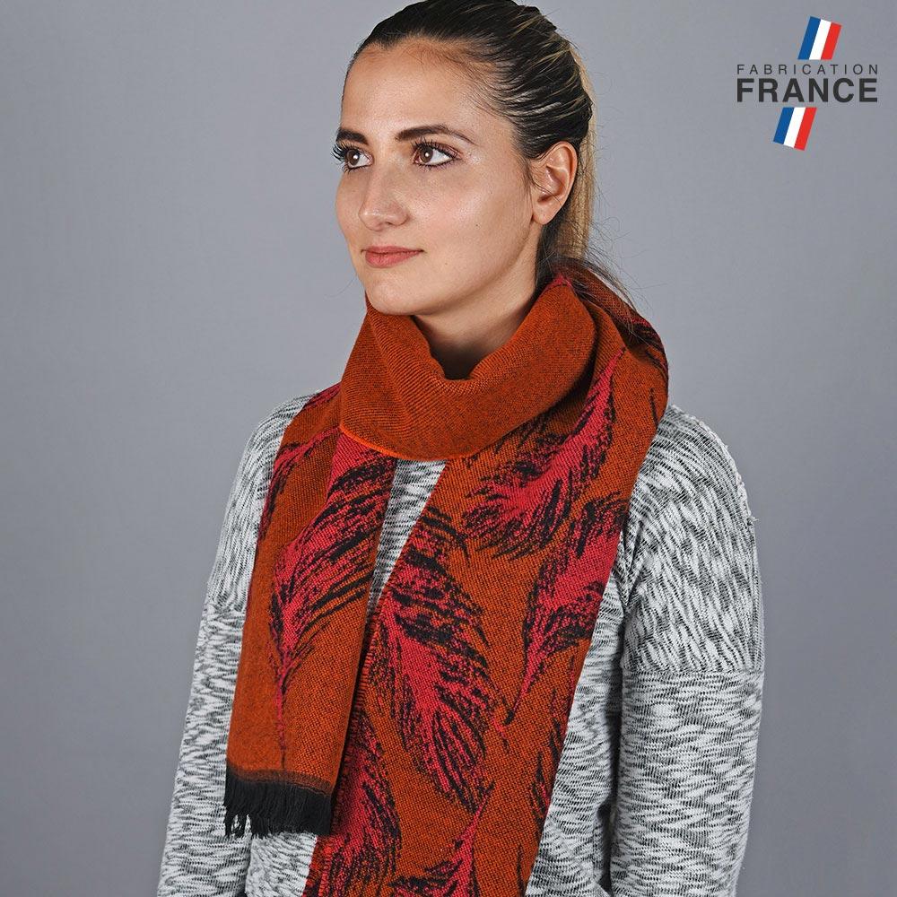 AT-05787-VF10-LB_FR-echarpe-femme-plumes-marron