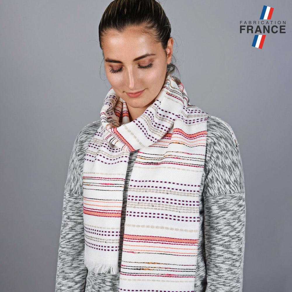 AT-05809-VF10-LB_FR-echarpe-femme-rayures-blanche