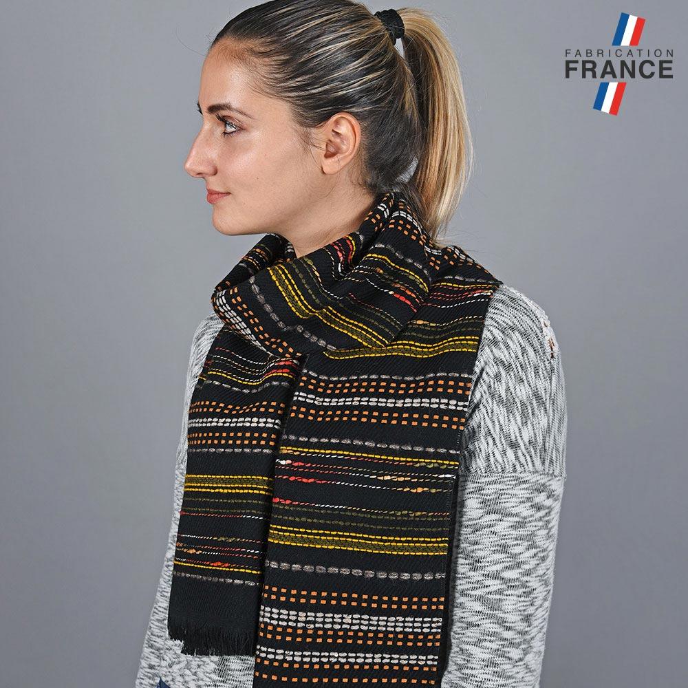 AT-05810-VF10-LB_FR-echarpe-femme-rayures-orange-label-france