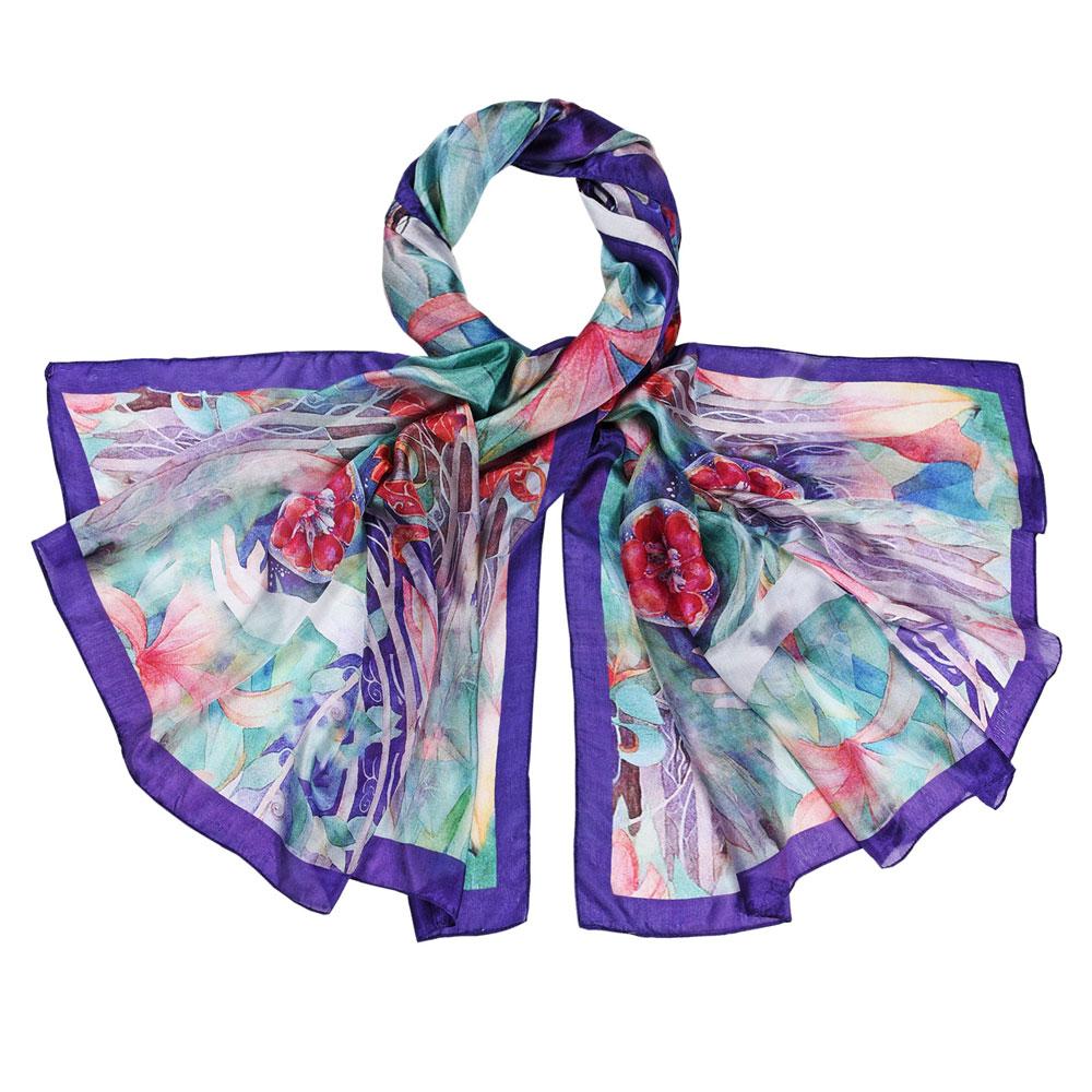 AT-05968-F10-etole-soie-fleurs-d'eau-violet