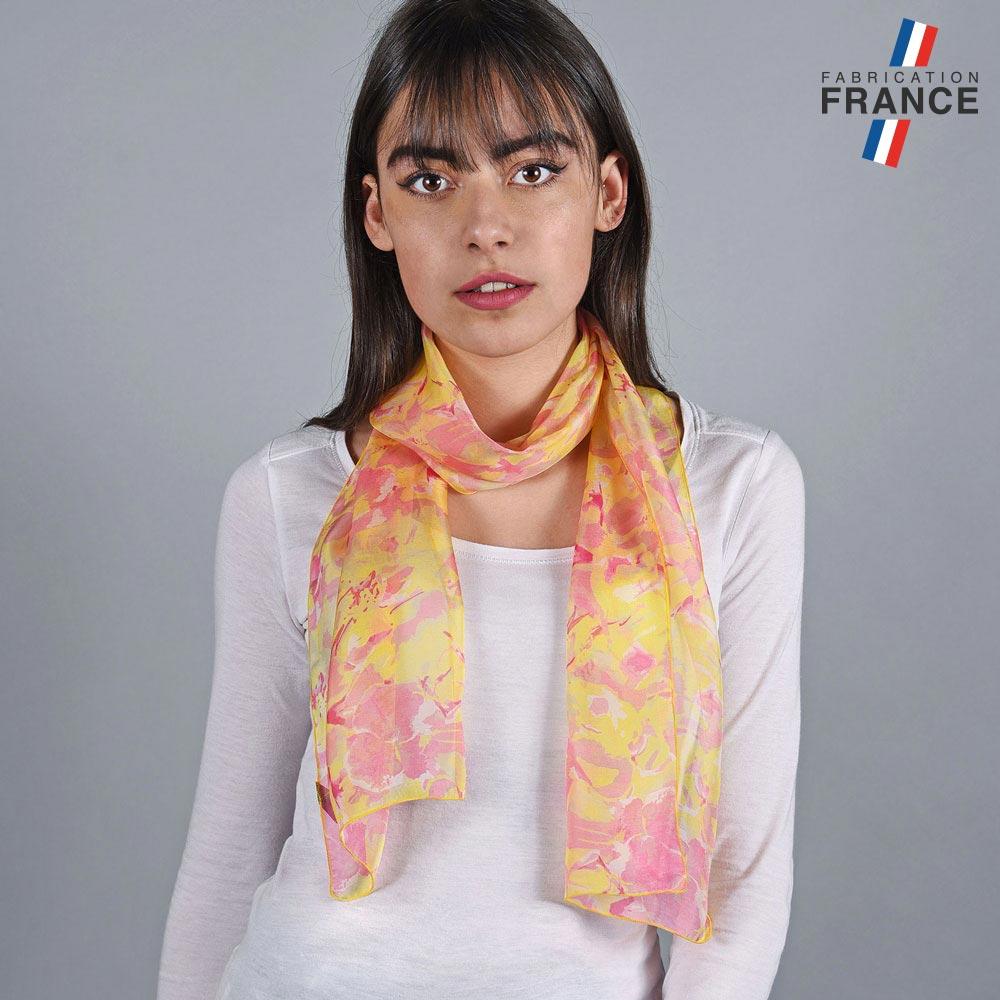 AT-05995-VF10-LB_FR-echarpe-mousseline-soie-fleurs-jaune-corail