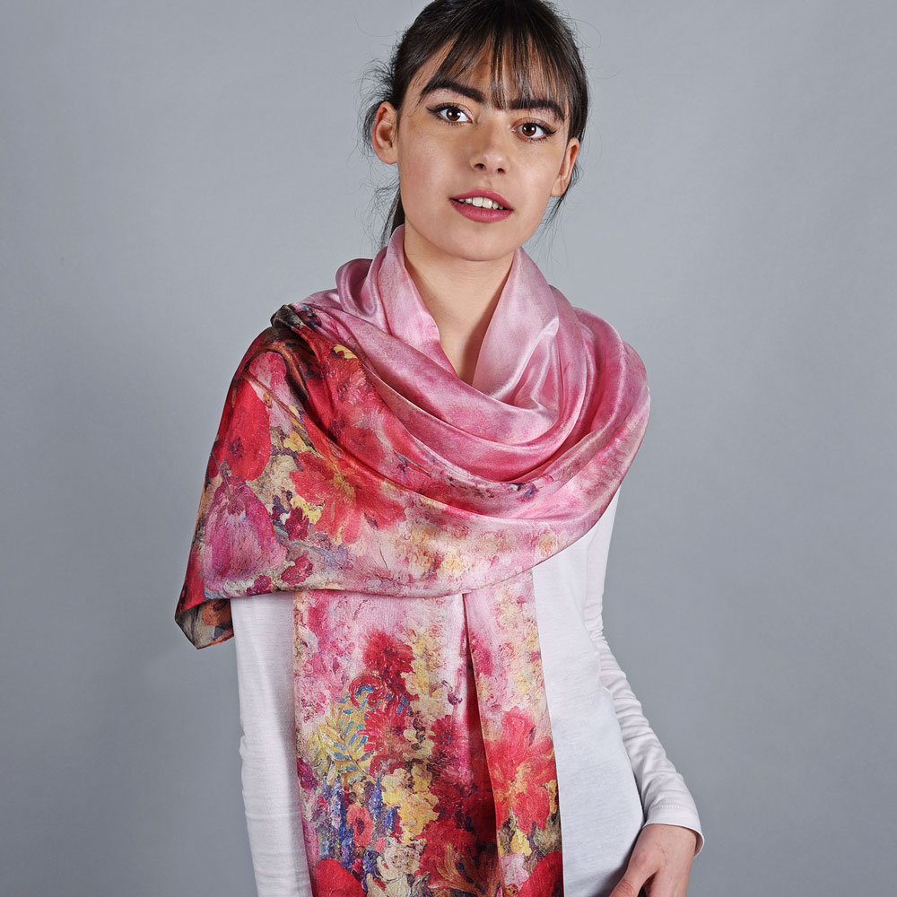 AT-05963-VF10-etole-femme-soie-coquelicots-rose