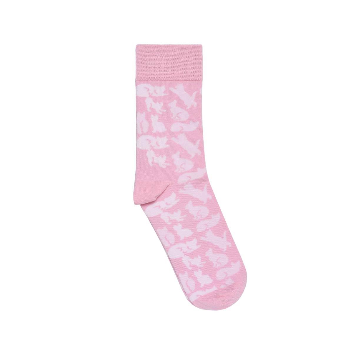 CH-00735-A12-chaussettes fantaisie-femme-chats-rose-35-39