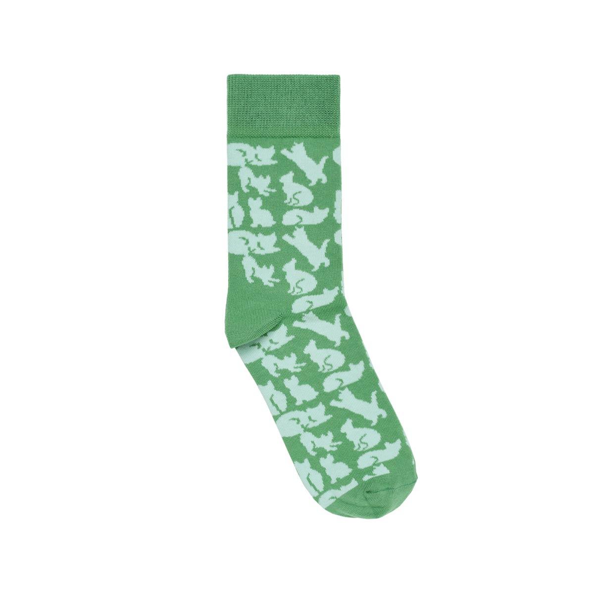 CH-00739-A12-chaussettes fantaisie-femme-chats-vert-35-39