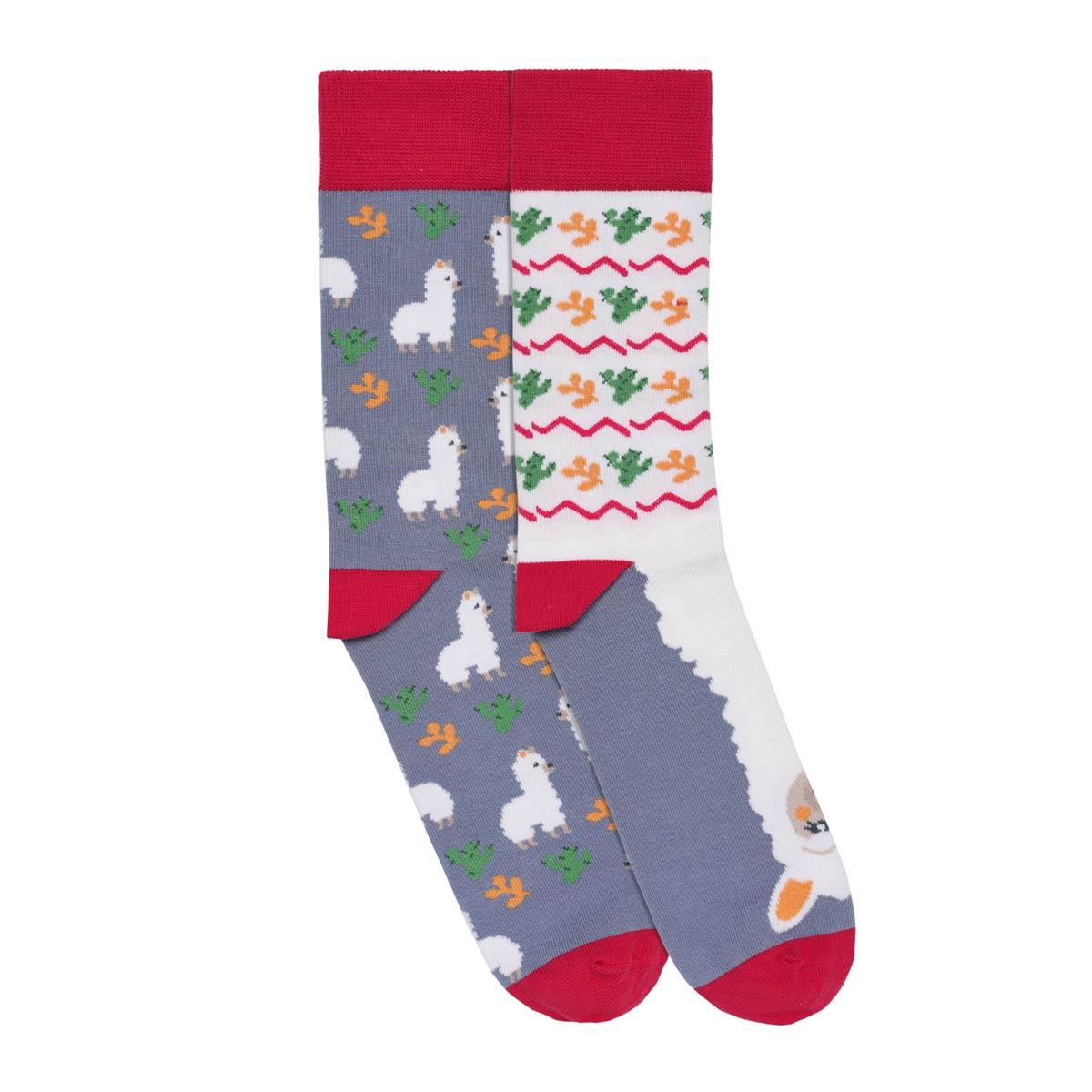 CH-00742-A12-chaussettes-homme-fantaisie-rouge-lama