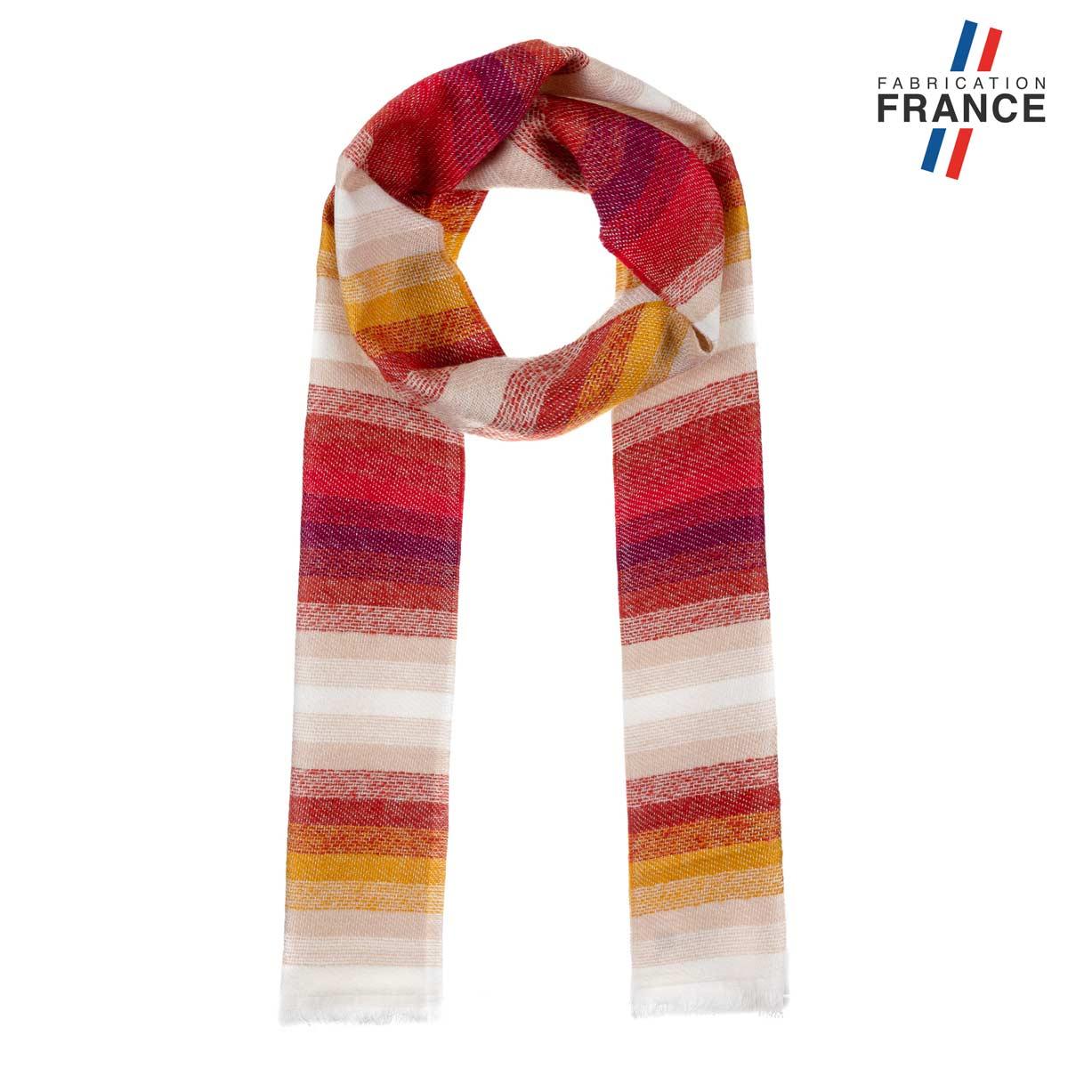 AT-06223-F12-FR-echarpe-à rayures-rouge-fabriquee-en-france