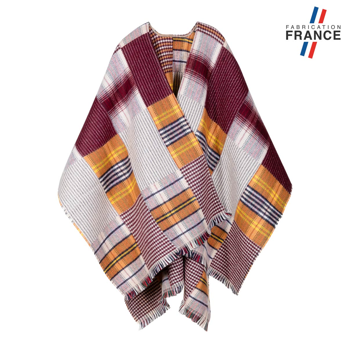 AT-06169-F12-LB_FR-poncho-bordeaux-orange-fabrication-francaise