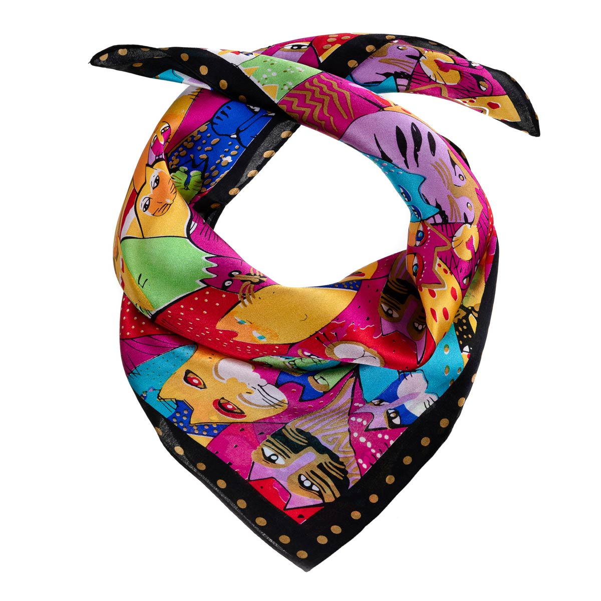 AT-06268-F12-foulard-soie-cats-rose-fuchsia