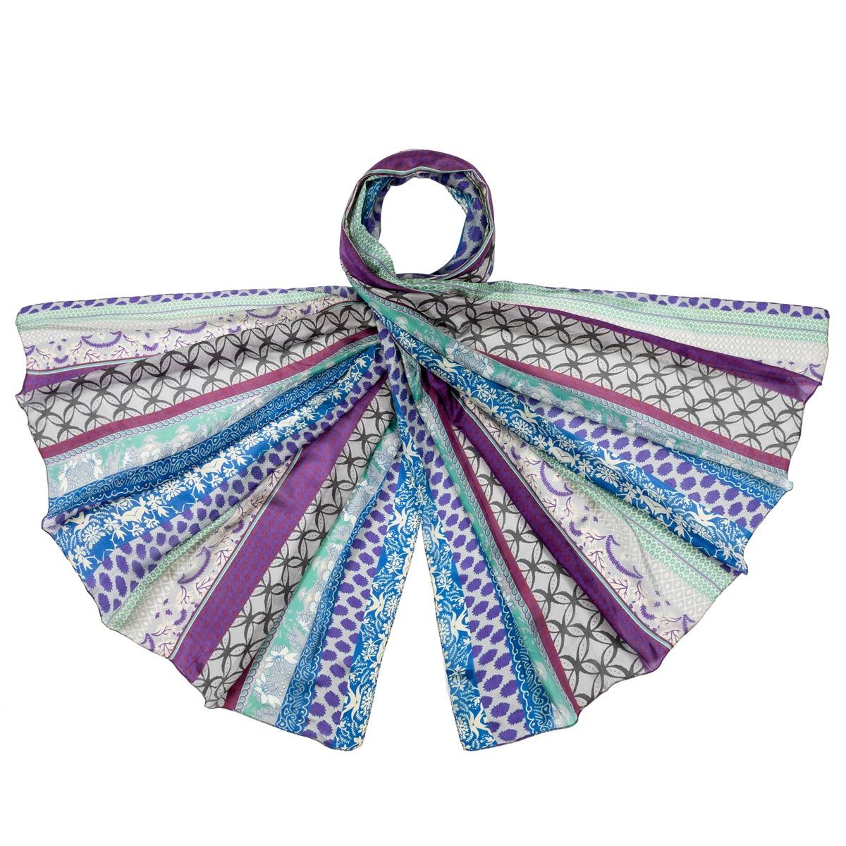AT-06345-F12-etole-en-soie-bandes-frises-bleues