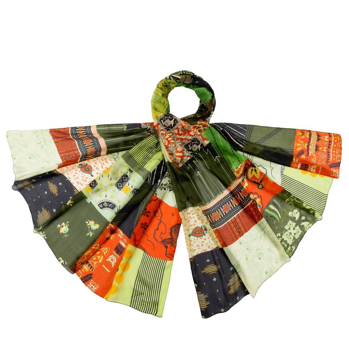 AT-06352-F12-etole-femme-soie-patchwork-vert