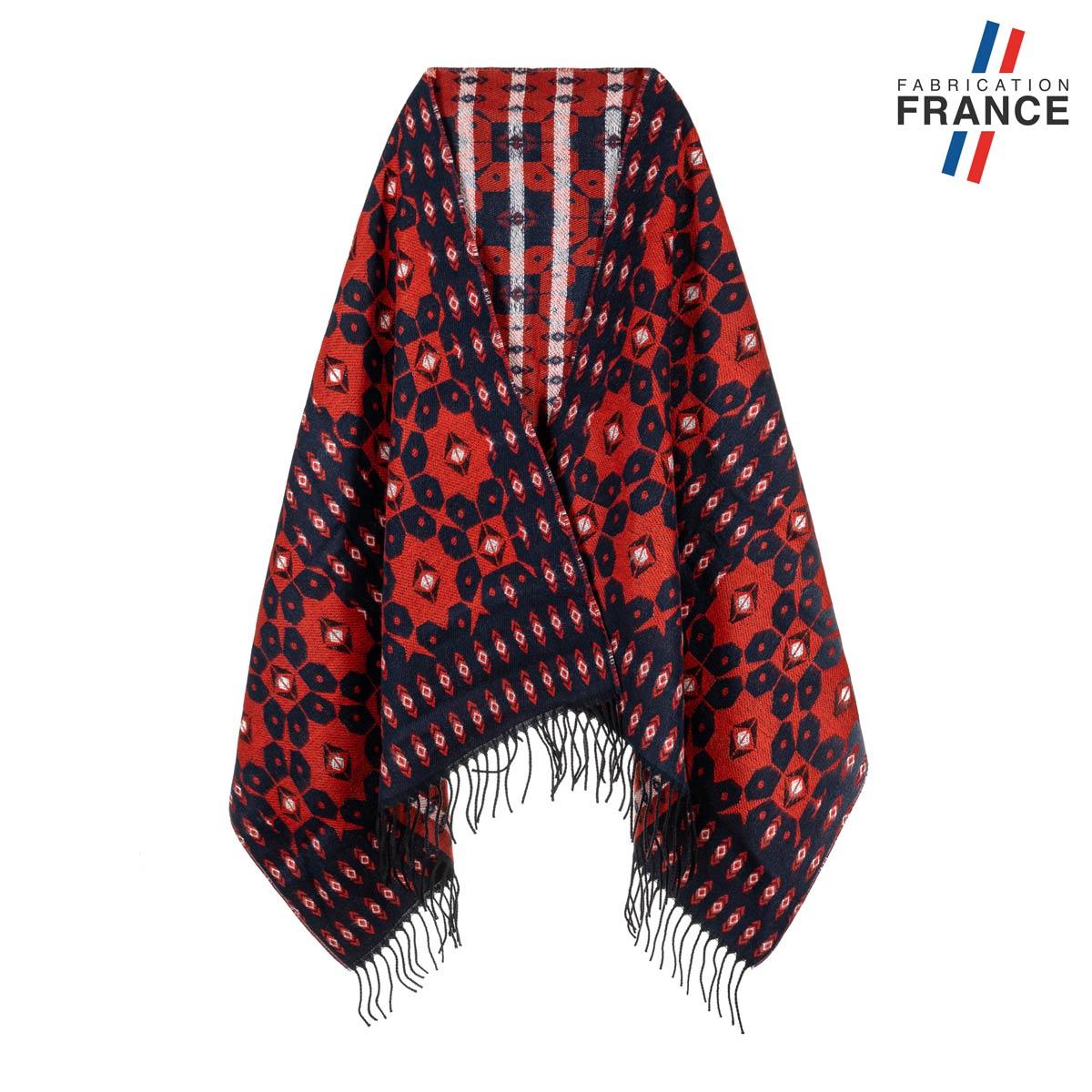 AT-05518_F12-1FR_Chale-femme-motifs-geometriques-marine-rouge