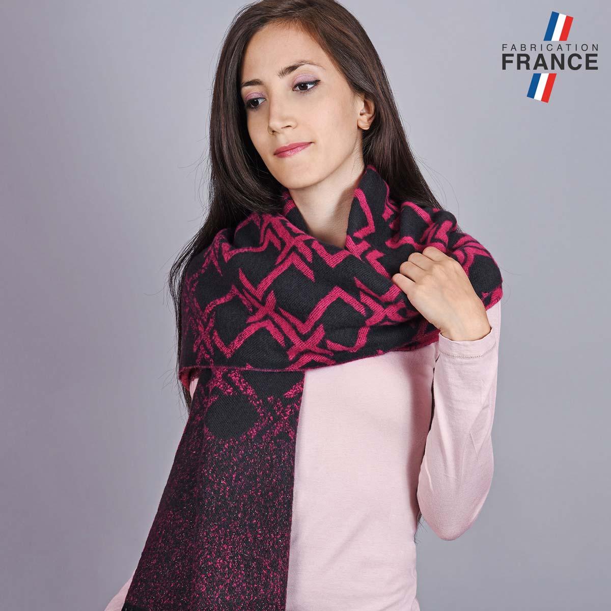 AT-05521_W12-1FR_Chale-femme-fuchsia-noir