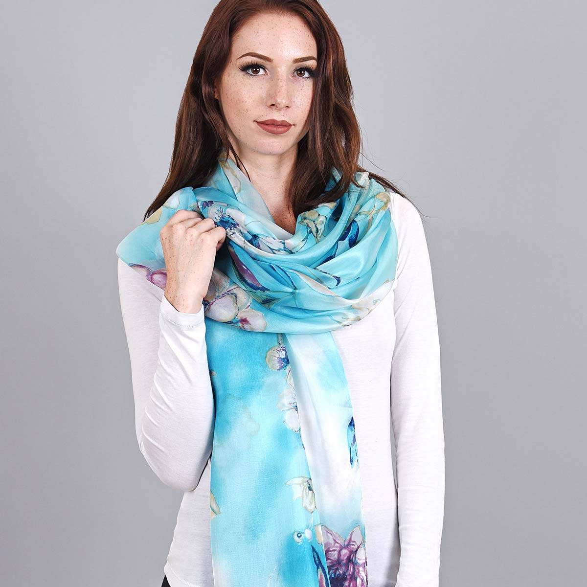 _Etole-soie-bleue-turquoise-fines-fleurs