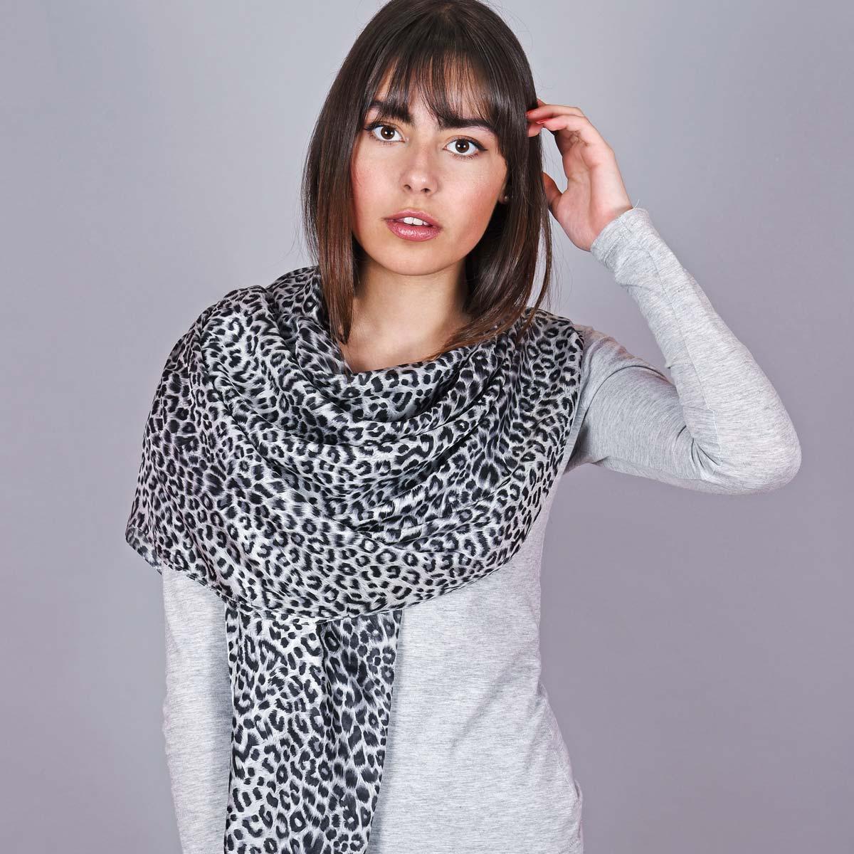 _Etole-soie-leopard-gris