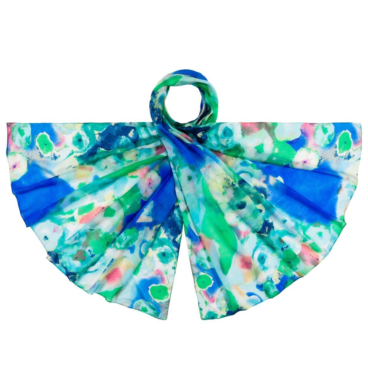 _Etole-soie-femme-abstraction-bleu-vert