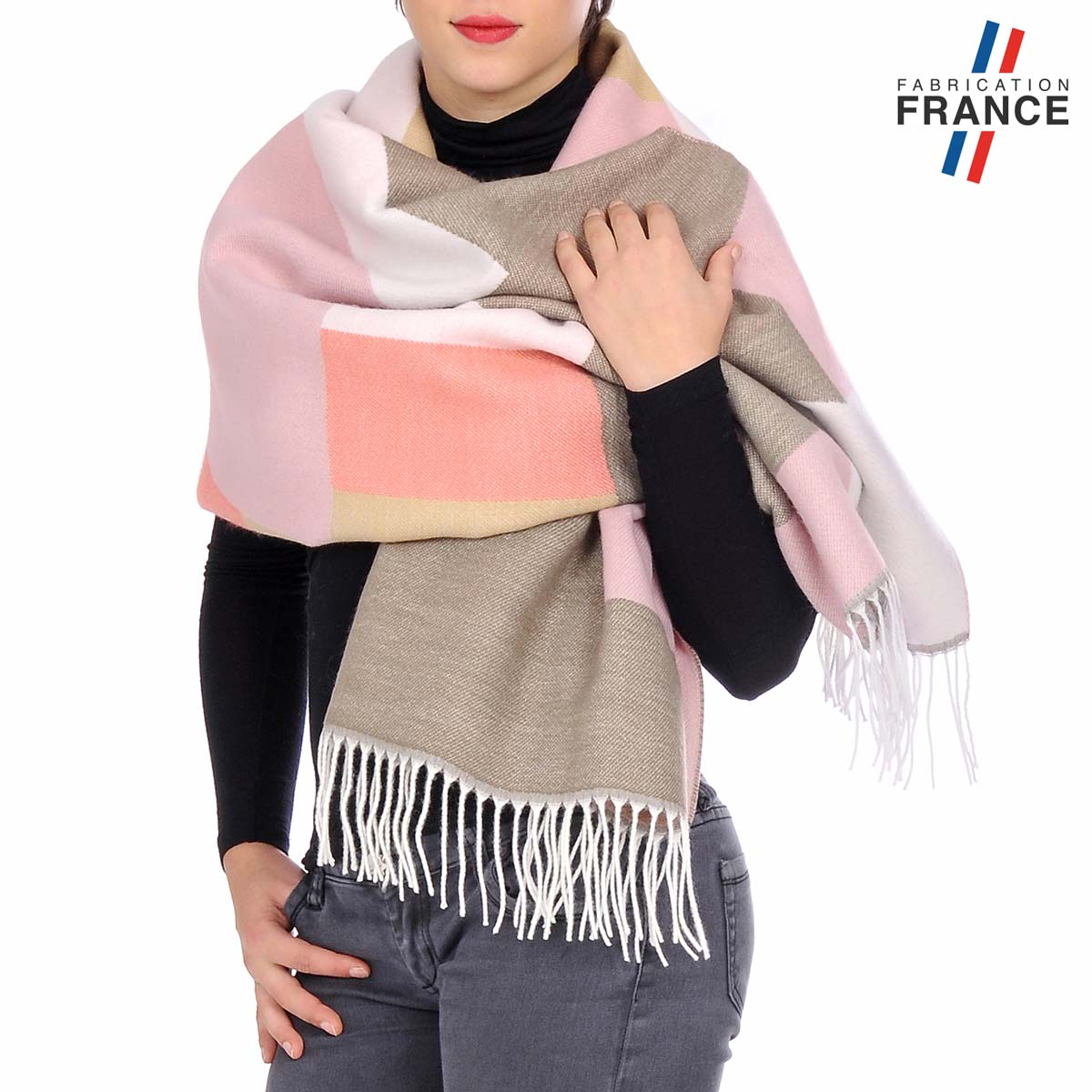 AT-05524_W12-1FR_Chale-femme-patchwork-taupe-rose