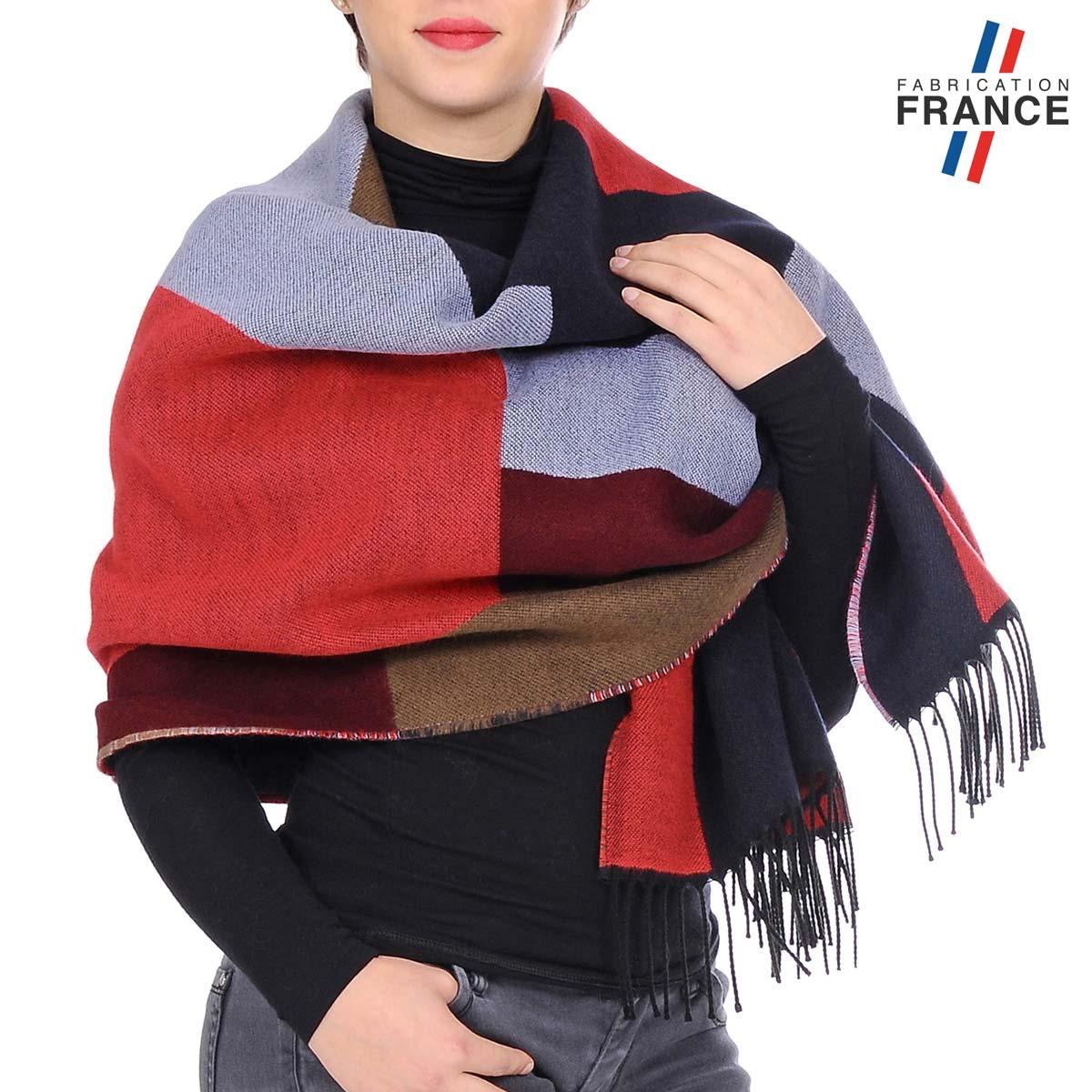 AT-05525-W12-1FR_Chale-femme-patchwork-rouge-bleu