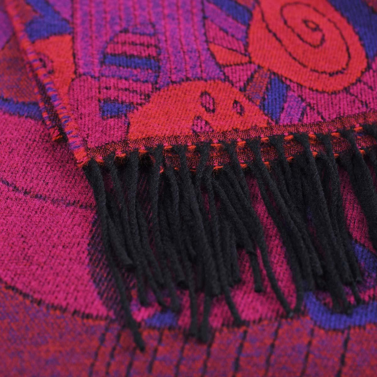 _Chale-femme-fuchsia-violet