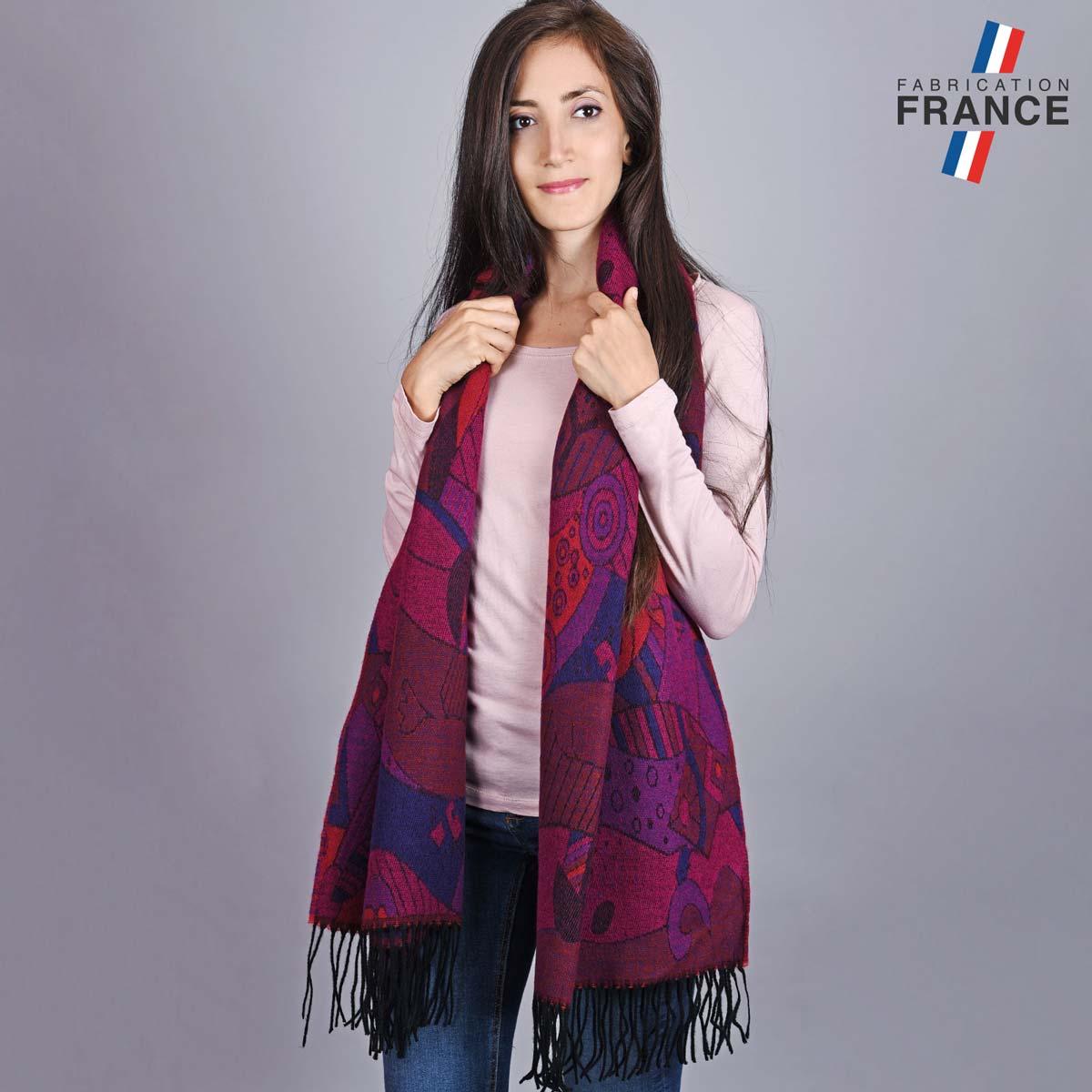AT-05508_W12-2FR_chale-femme-violet-fuchsia-art-moderne