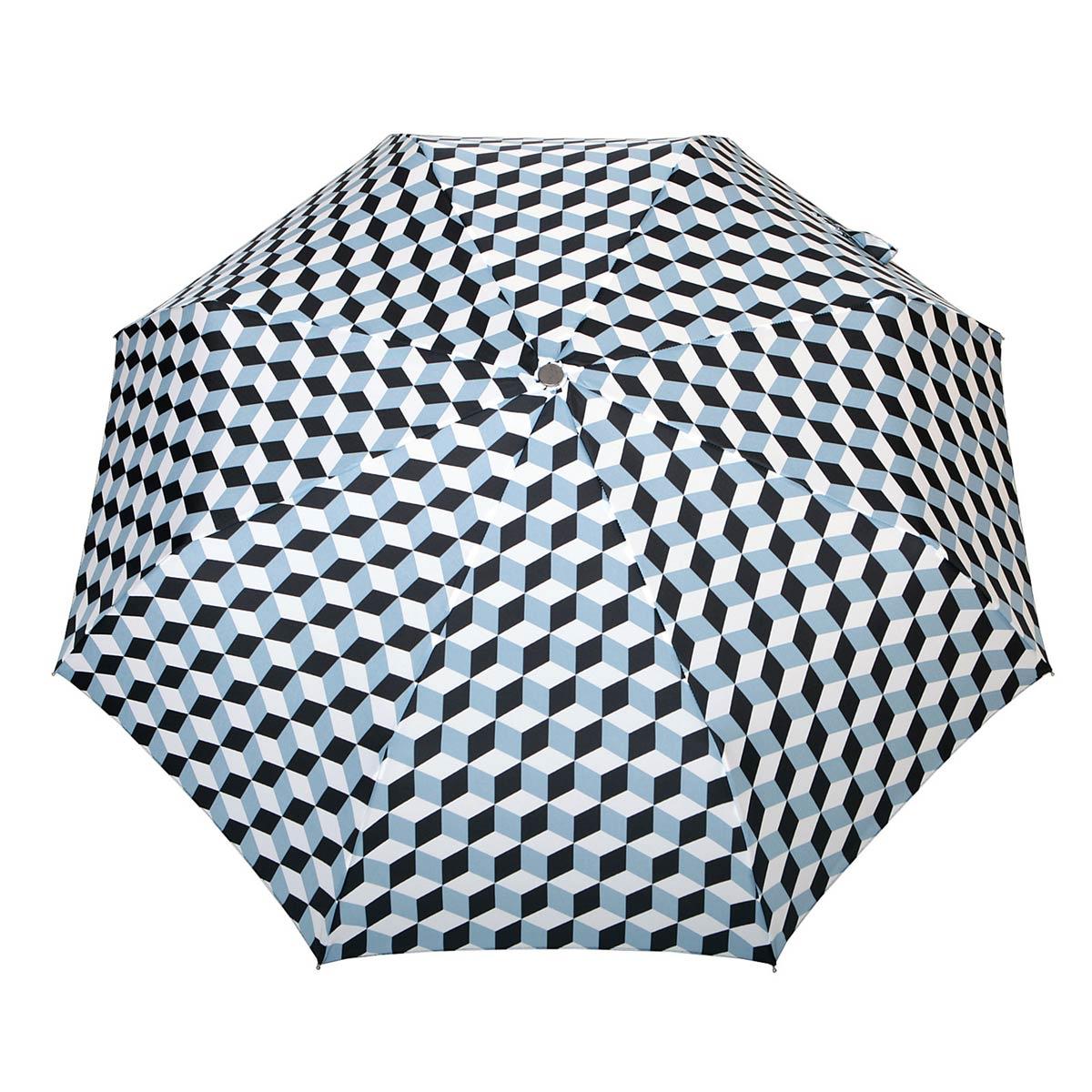 _Parapluie-pliant-automatique-femme-cubes-noir-ciel