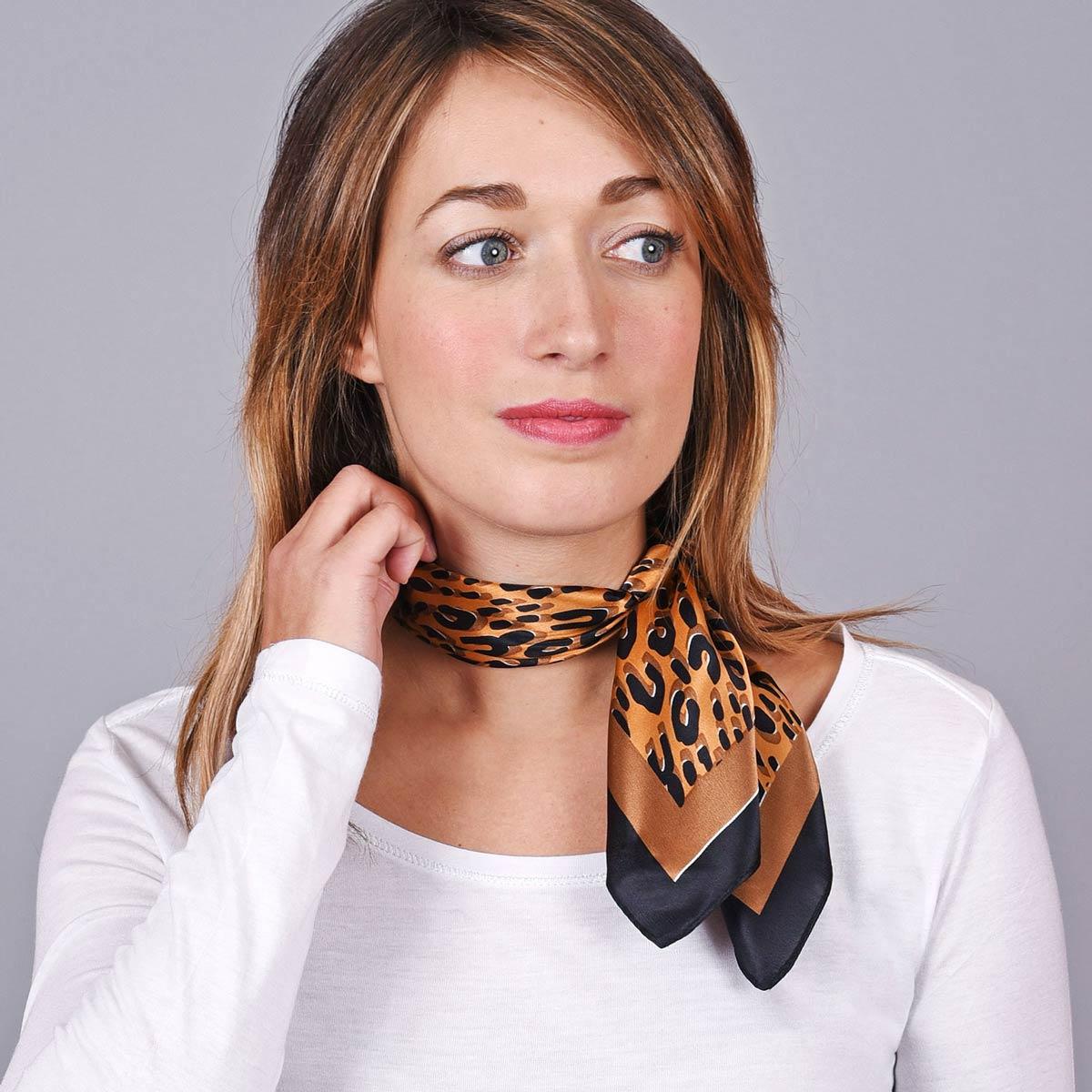 _Foulard-soie-femme-orange