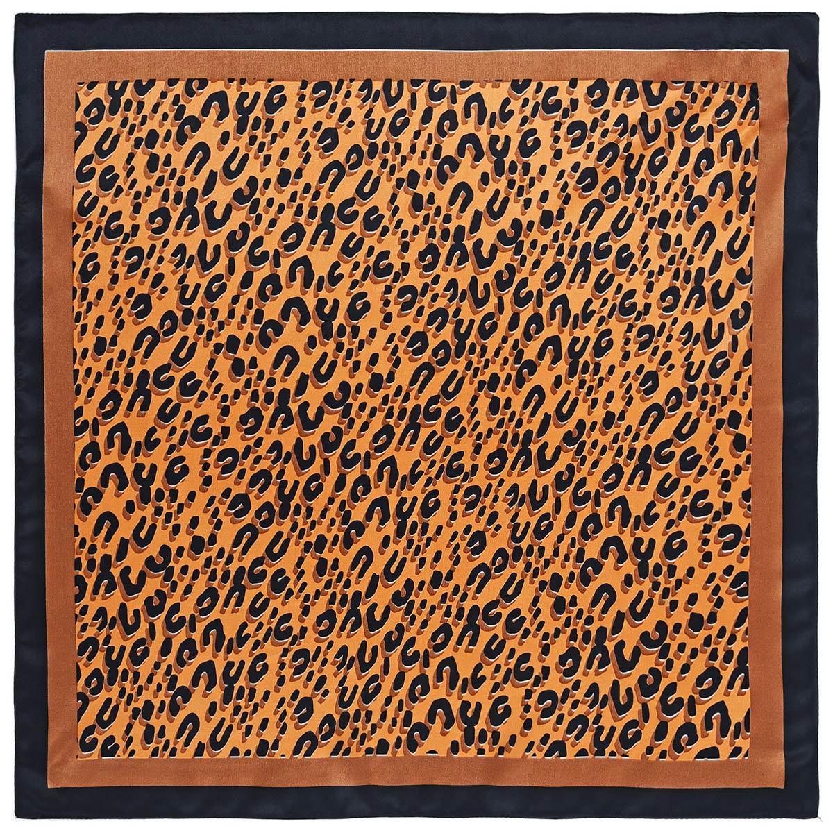 _Carre-soie-femme-orange-leopard