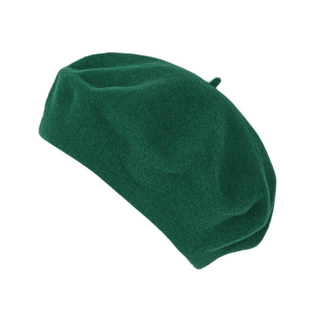 _Beret-femme-laine-vert