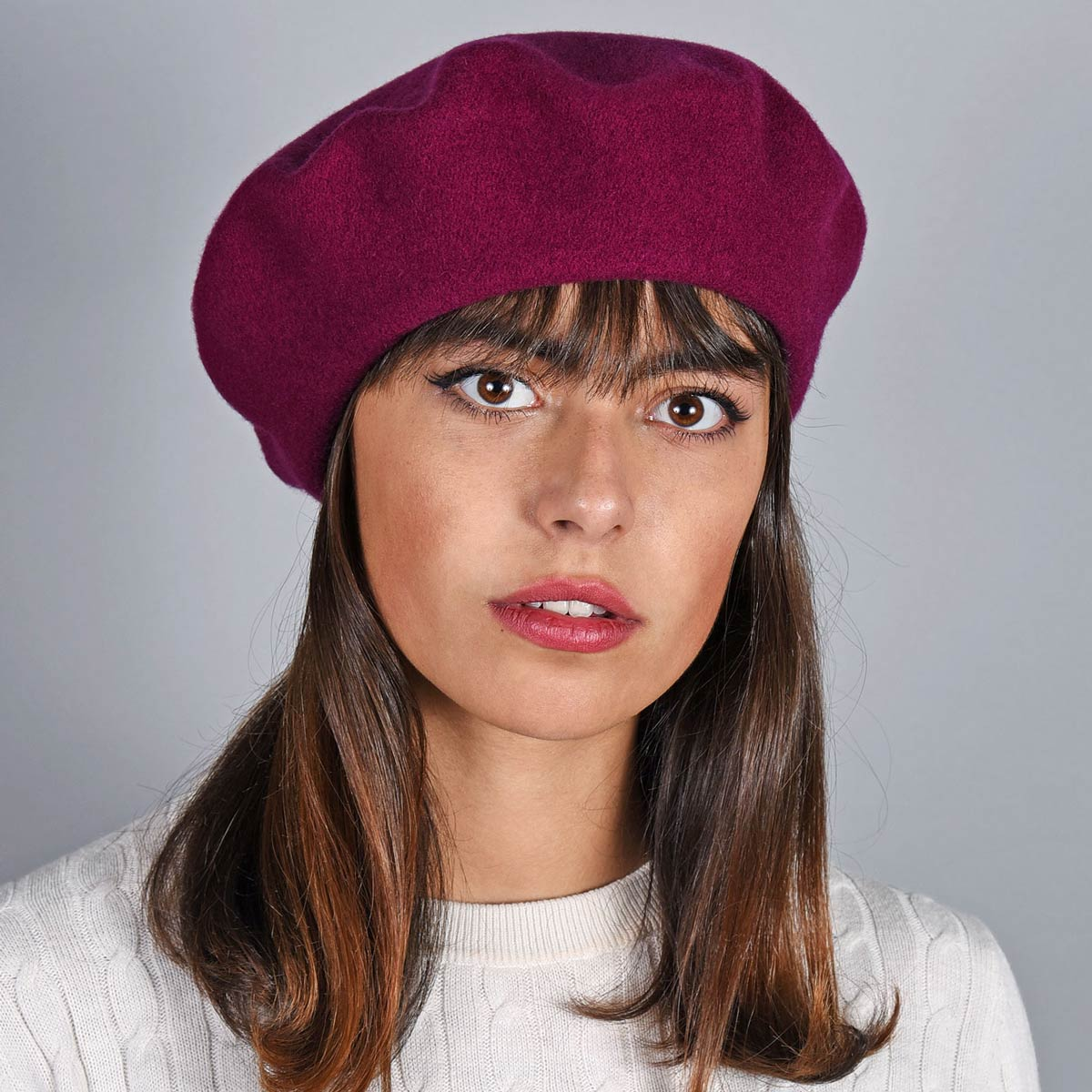 _Beret-femme-laine-prune