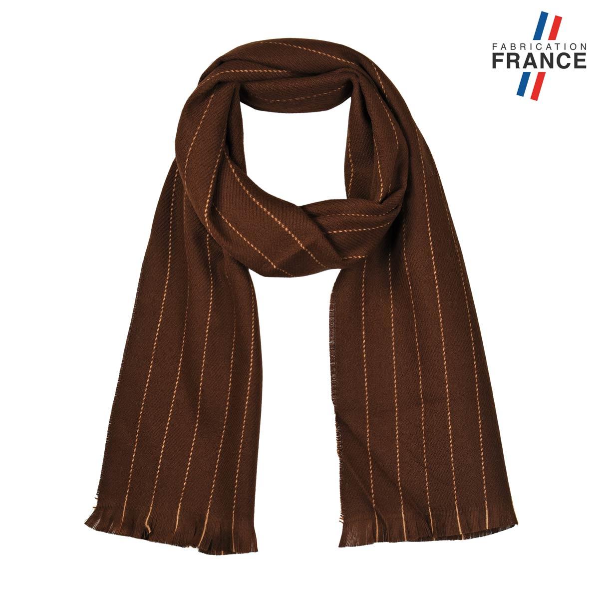 AT-05611_F12-1FR_Echarpe-mixte-marron-fabriquee-en-france