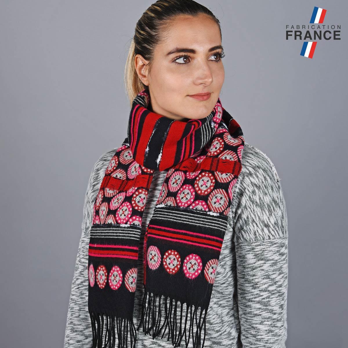 AT-05790_W12-1FR_Echarpe-femme-boutons-rouges-made-in-france