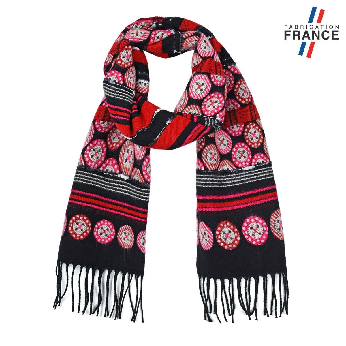AT-05790_F12-1FR_Echarpe-femme-boutons-fuchsia