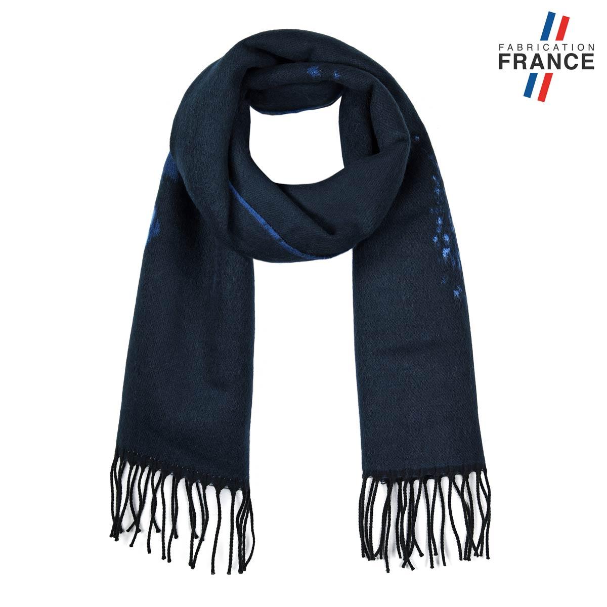 AT-05791_F12-1FR_Echarpe-femme-bleu-metal-fabrication-francaise