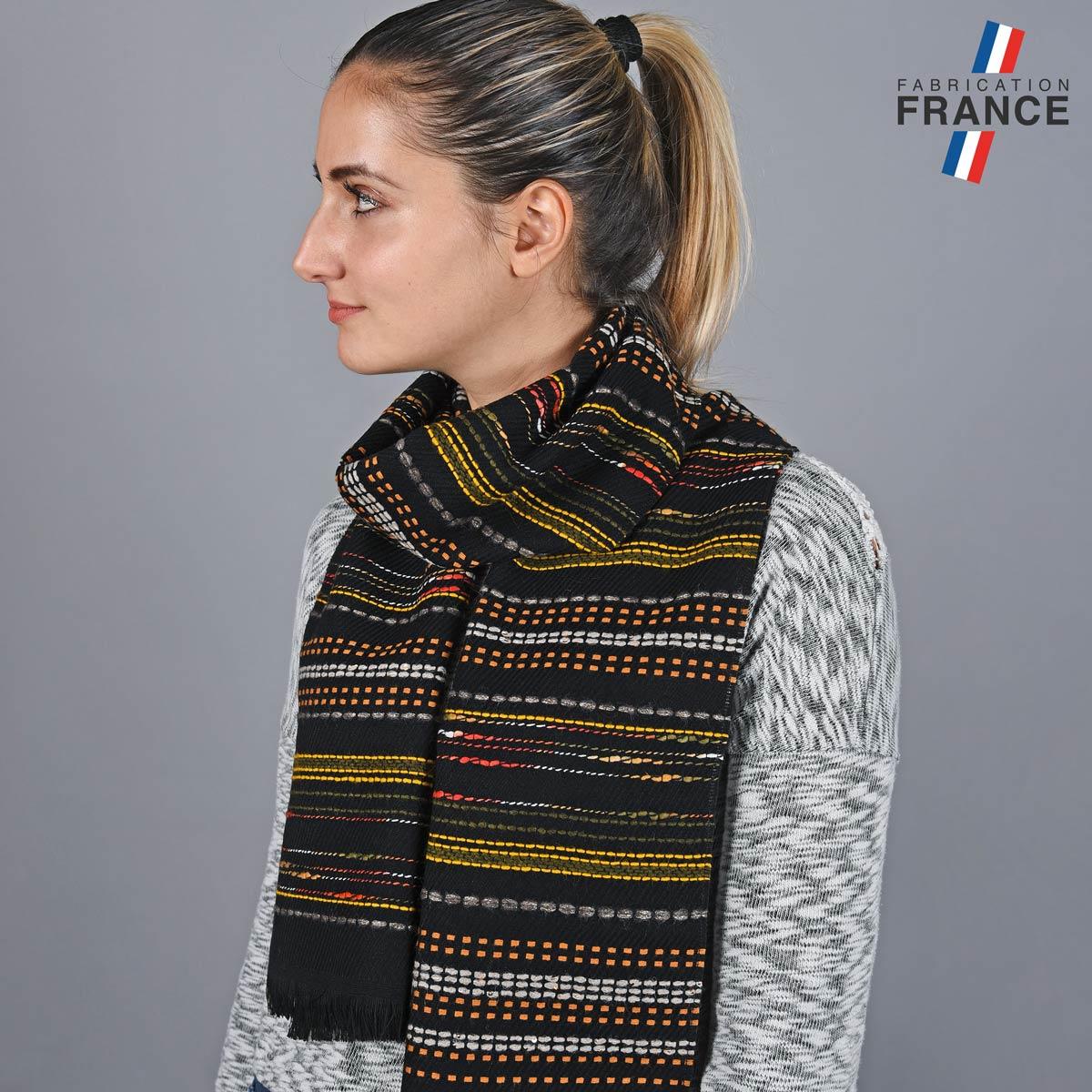 AT-05810_W12-1FR_Echarpe-femme-rayures-orange-label-france