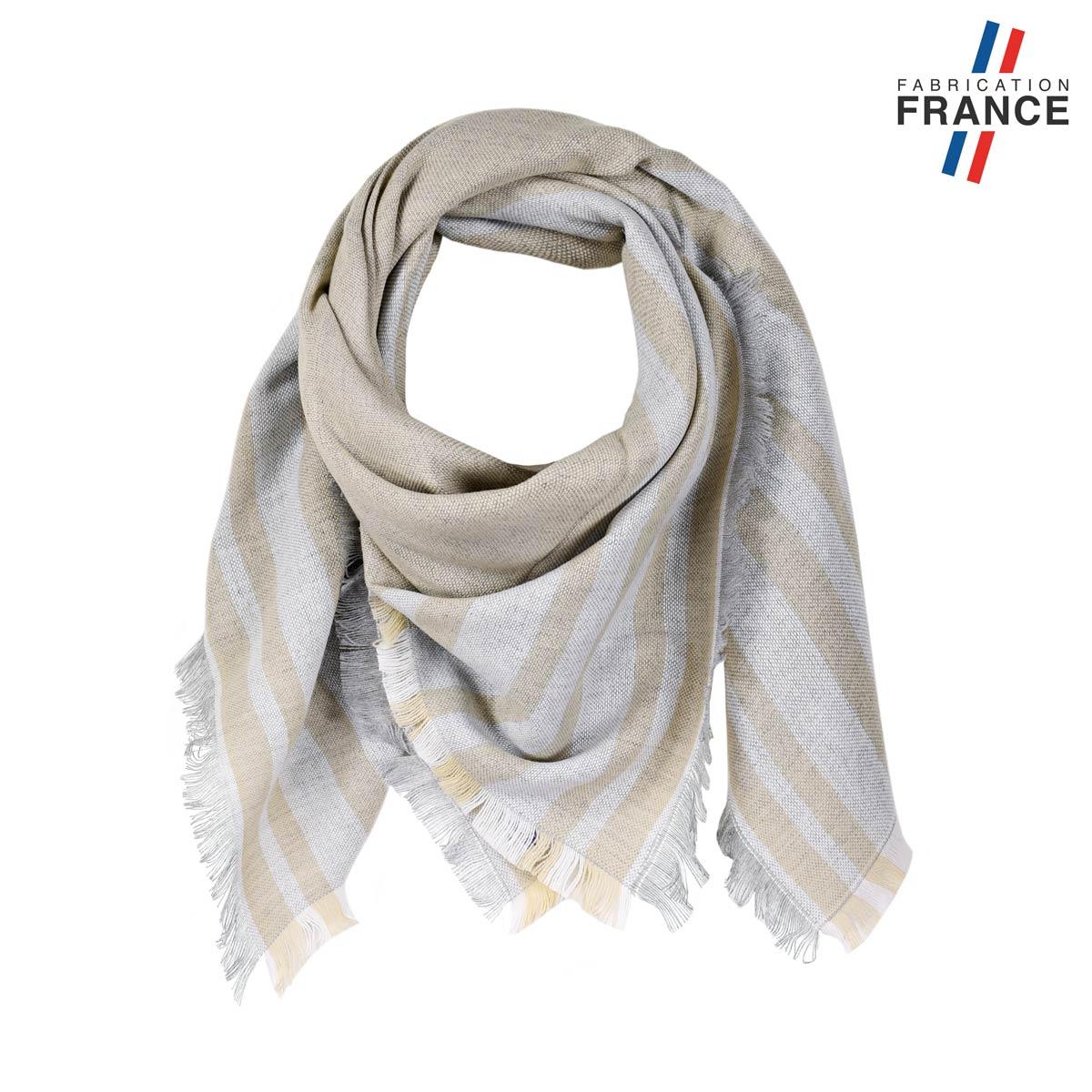 AT-05823_F12-1FR_Echarpe-carre-femme-beige-made-in-france